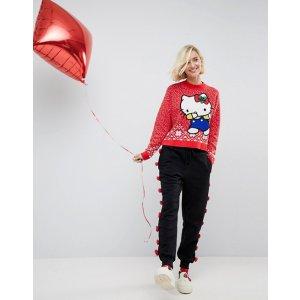 Hello Kitty X ASOS Dabbing Holidays Sweater at asos.com