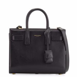 Sac de Jour Nano Leather Satchel Bag, Black