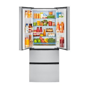 $799.20 Haier 14.97 cu. ft. 4 Door French Door Freezer/Refrigerator, Stainless Steel