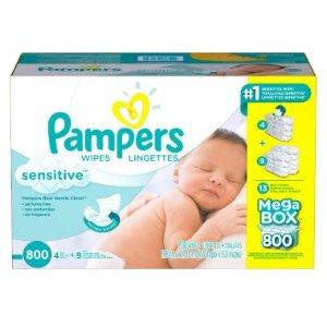 3箱立省$18 每片不到$0.02Pampers 帮宝适婴儿湿巾特卖