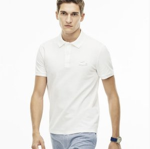$67.99($98)Lacoste Men's Slim Fit Rubber Crocodile Stretch Piqué Polo Shirt