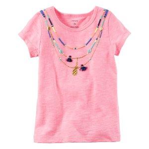 Baby Girl Neon Tassel Necklace Tee | Carters.com