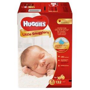 Huggies Little Snugglers 婴儿纸尿布 新生儿 132片