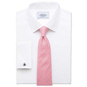Slim fit non-iron twill white shirt | Charles Tyrwhitt