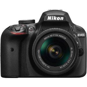 $353.99 Nikon Refurbished D3400 24.2MP DSLR w/ 18-55mm Lenses