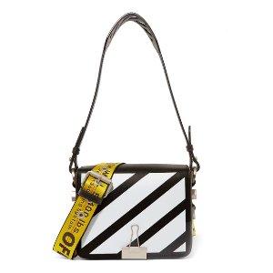 Off-White | Printed leather shoulder bag
