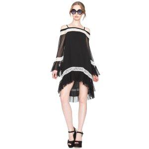 Willie Cold Shoulder Bell Sleeve Dress | Alice + Olivia