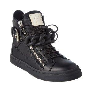 Giuseppe Zanotti Giuseppe Zanotti Chain Strap Leather High Top Wedge Sneaker | Bluefly.Com