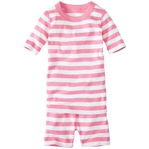 Kids Short John Pajamas In Organic Cotton | Girls Sleepwear