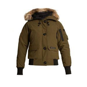 Chilliwick fur-trimmed padded bomber jacket