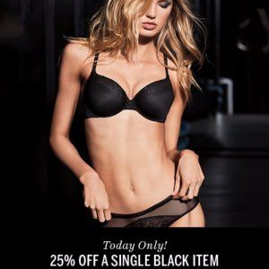 25% OffSingle Black Item @ Victoria's Secret
