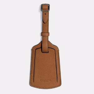 Luggage Tag in Refined Pebble Leather