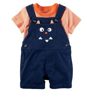 Baby Boy 2-Piece Tee & Shortalls Set | Carters.com