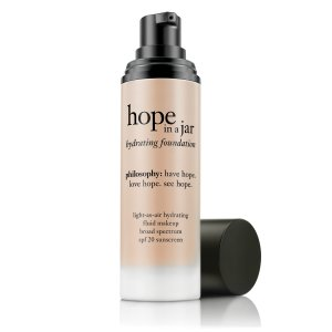 hope in a jar foundation | light-as-air hydrating fluid makeup spf 20 | philosophy