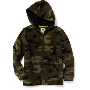 Full-Zip Fleece Hoodie for Boys