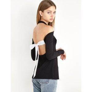 Sunday Tie Back Long Sleeve Top by New Revival