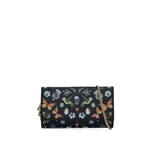 Alexander McQueen Obsession Print Big Wallet With Chain