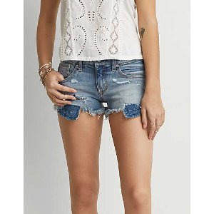 AEO Denim X4 Shortie, Brighten My Day | American Eagle Outfitters