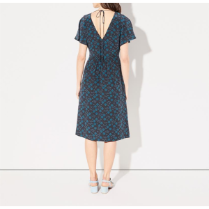ROSWELL DRESS BLACK TEAL GEO | Steven Alan