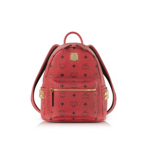 MCM Red Mini Stark Backpack at FORZIERI