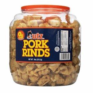 $6.63 包邮Utz Pork Rinds 炸猪皮 18oz 美味美容零食