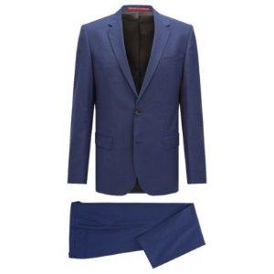 Textured Check Virgin Wool Blend Suit, Slim Fit| C-Hutson/C-Gander