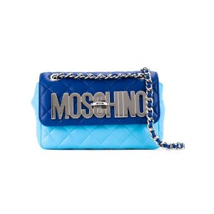 Moschinoquilted logo crossbody bag