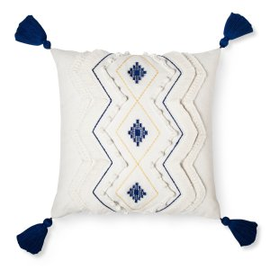 Cream Diamond Throw Pillow with Tassels - Threshold™ : Target