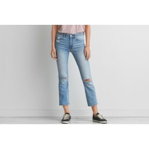 Hi-Rise Kick Crop, Faded Ways | American Eagle Outfitters