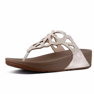Crystal Toe-Thong Sandals