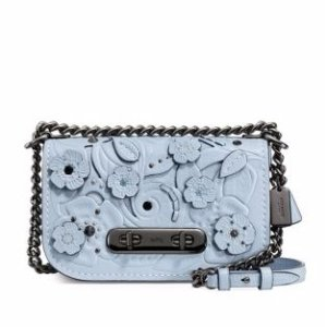 Swagger Flower Leather Crossbody Bag
