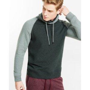 Fleece Raglan Funnel Neck Sweatshirt   Express