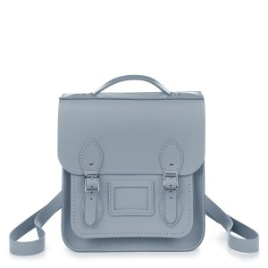 French Grey Small Portrait Backpack | The Cambridge Satchel Company