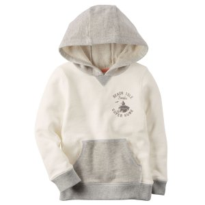 Kid Boy French Terry Pullover Hoodie | Carters.com