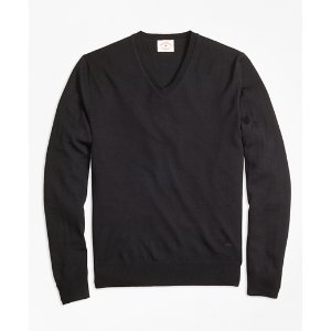 Merino Wool V-Neck Sweater - Brooks Brothers