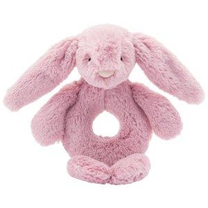 Jellycat Bashful Bunny Tulip Ring Rattle - Free Shipping