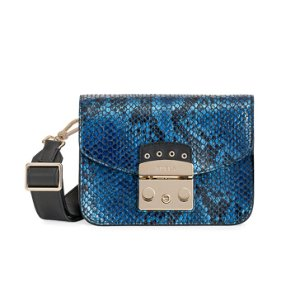 FURLA METROPOLIS MINI CROSSBODY BLUE METAL