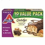 Atkins Endulge Treat, Caramel Nut Chew Bar,Value pack, 10 Bars