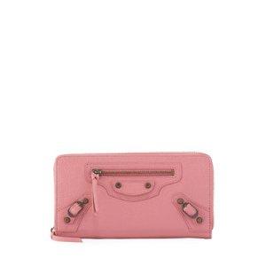 Balenciaga Classic Lambskin Zip Continental Wallet