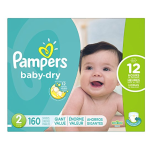Pampers Baby Dry Diapers Size 2, 160 Count