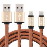 Lightning Cable, Gaoye iPhone Charger 3.3FT Certified Lightning to USB Cable Leather Cable Data Sync 8 Pin Fast Charging Cord for Apple iPhone iPad iPod (2 Pack)