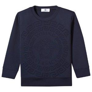 Young Versace Navy Medusa Neoprene Sweatshirt | AlexandAlexa
