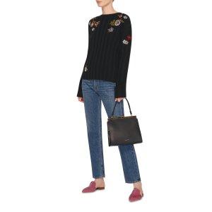 Embroidered Ribbed-Knit Sweater | Moda Operandi