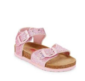 Rugged Bear Girl's Polka Dot Glitter Sandals