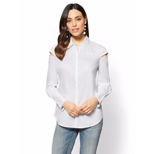 7th Avenue - Madison Stretch Shirt - Button Accent