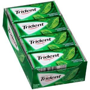 Trident Gum, Spearmint, 18 Ct (Pack of 12)   Jet.com