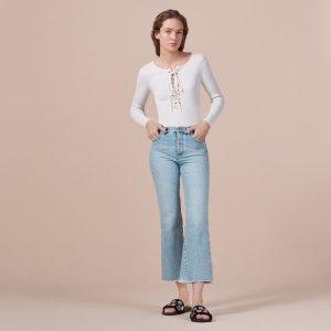 PRUDY Flared cotton jeans - Pants & Jeans - Maje.com