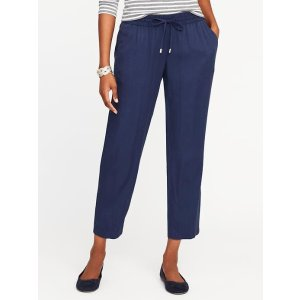 Mid-Rise Soft Pants for Women