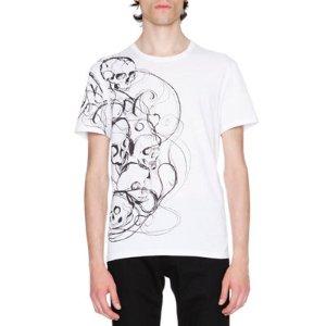 Alexander McQueen Skull-Print Graphic T-Shirt