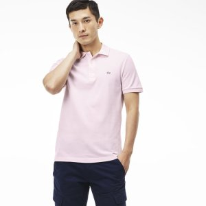 Men's Slim Fit Stretch Piqué Polo Shirt | LACOSTE
